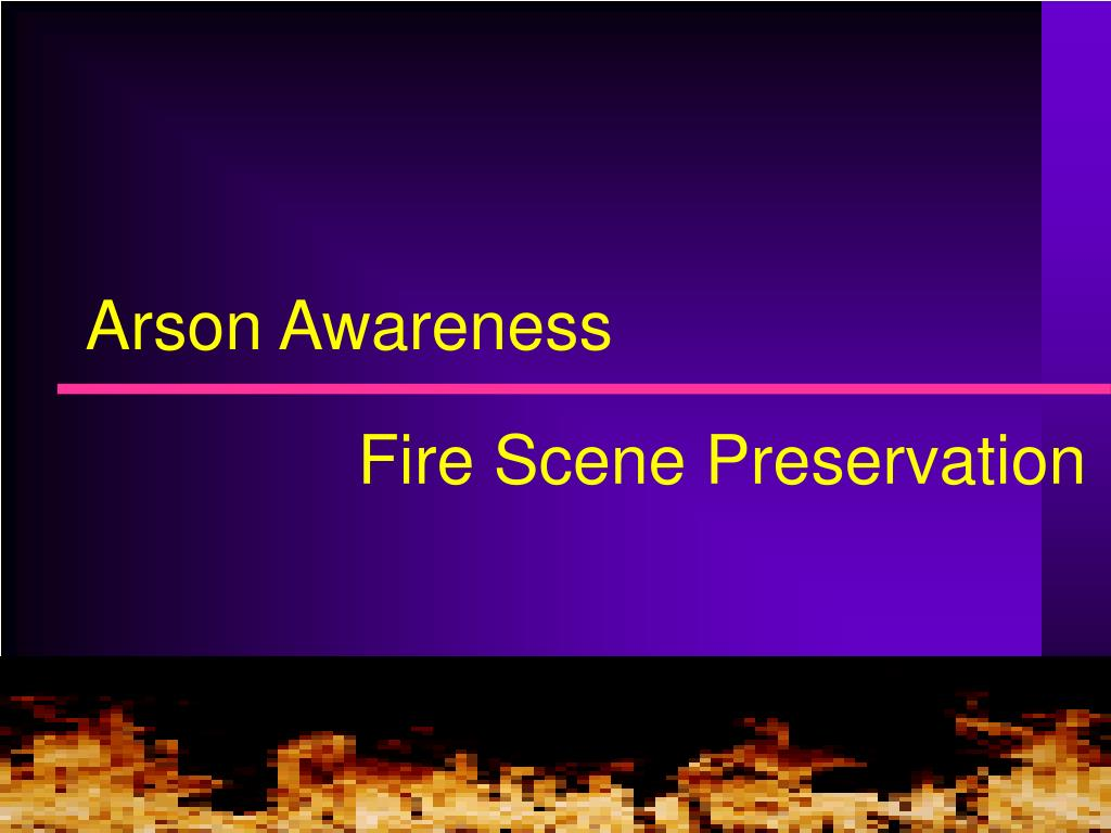 arson awareness l.