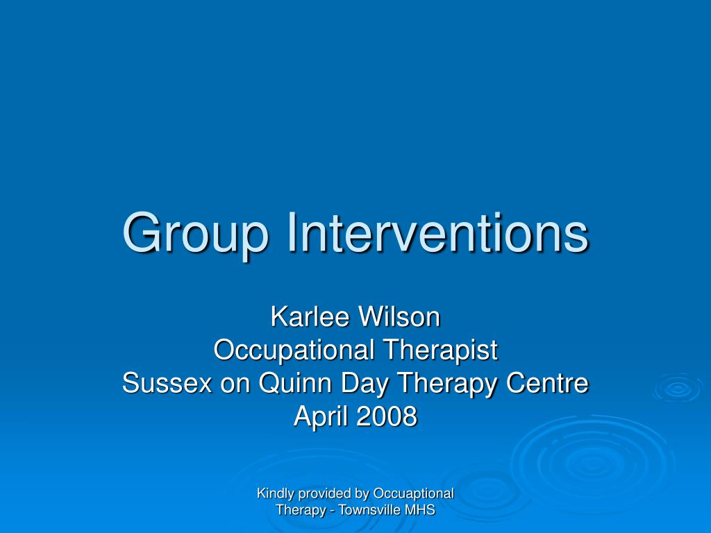 group interventions l.