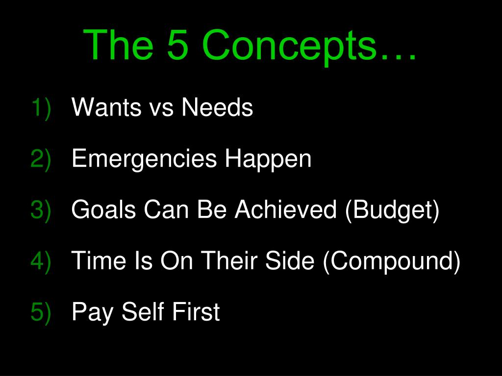 The 5 Concepts…