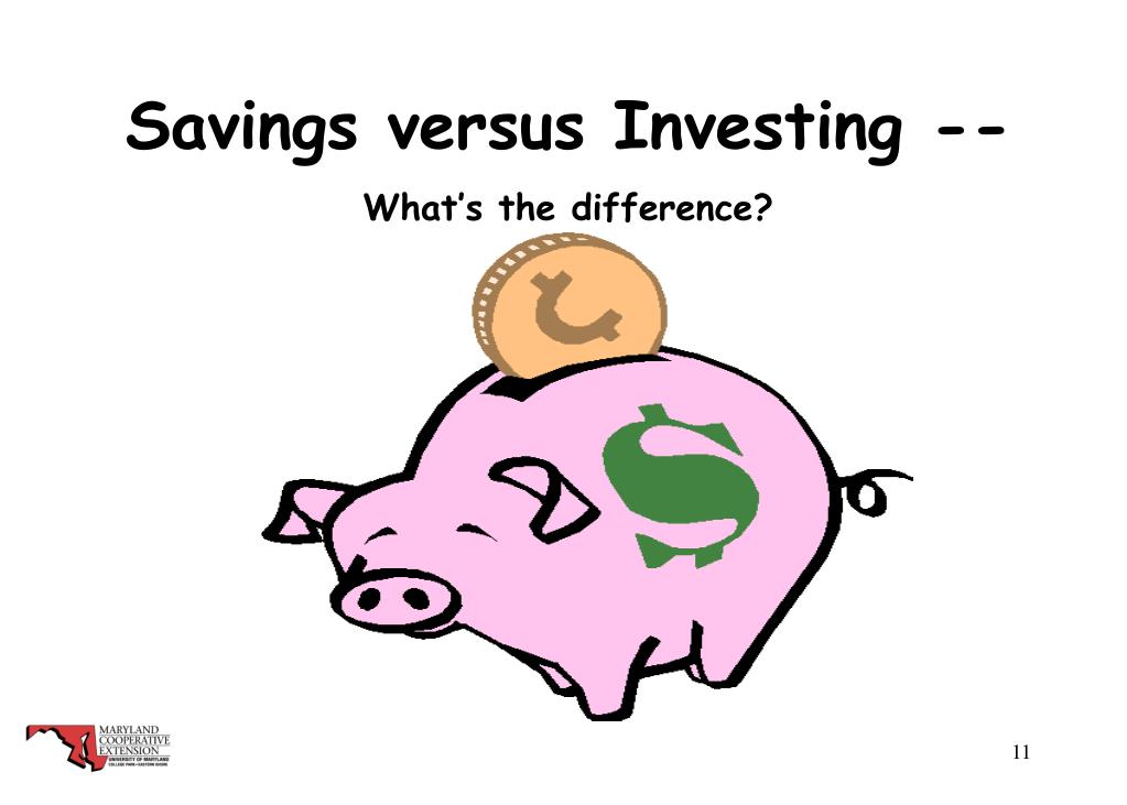 Savings versus Investing --