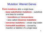 mutation altered genes
