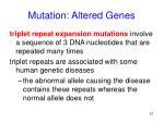 mutation altered genes51