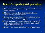 benzer s experimental procedure