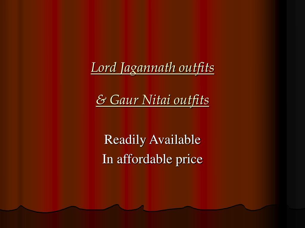 lord jagannath outfits gaur nitai outfits l.