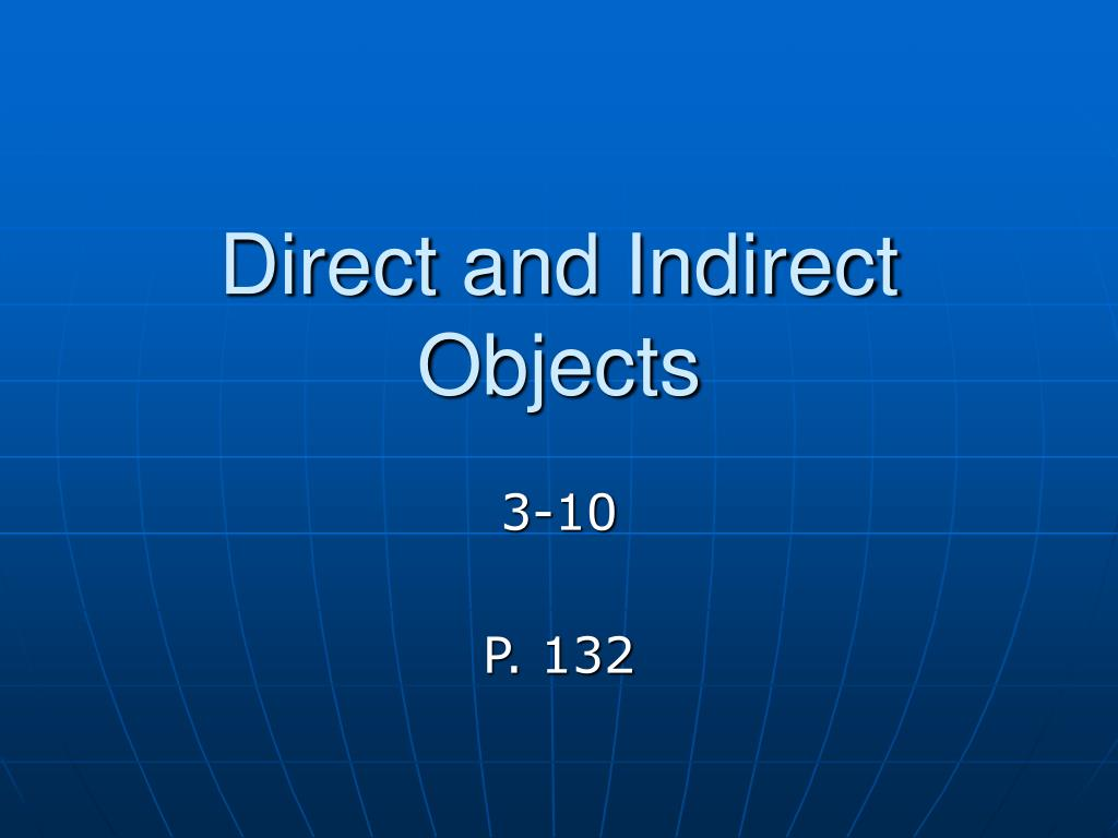 direct and indirect objects l.