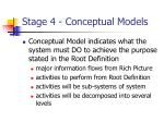 stage 4 conceptual models