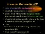 accounts receivable a r