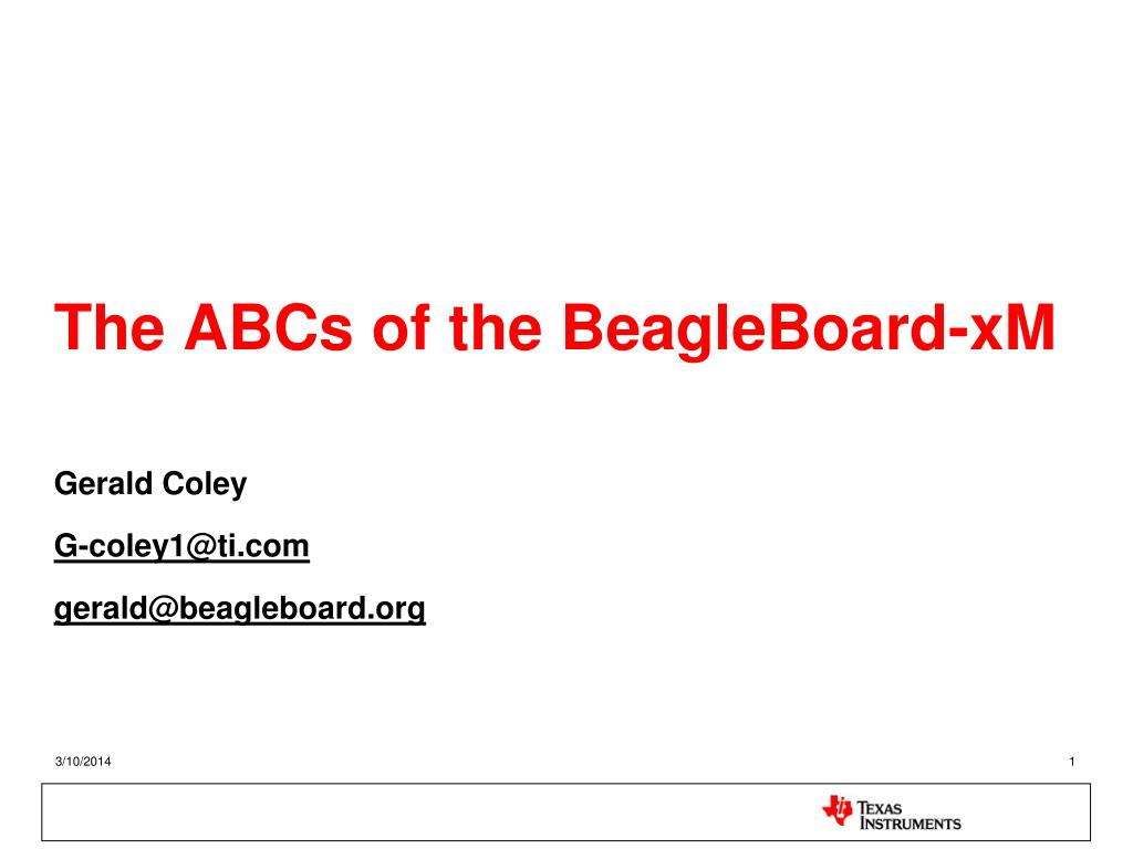 the abcs of the beagleboard xm l.