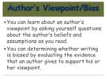 author s viewpoint bias84