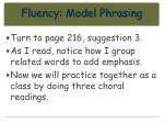 fluency model phrasing58