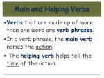 main and helping verbs61