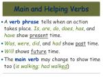 main and helping verbs63