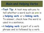 main and helping verbs76