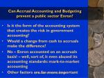can accrual accounting and budgeting prevent a public sector enron