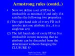 armstrong rules contd