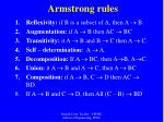 armstrong rules