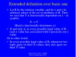 extended definition over basic one