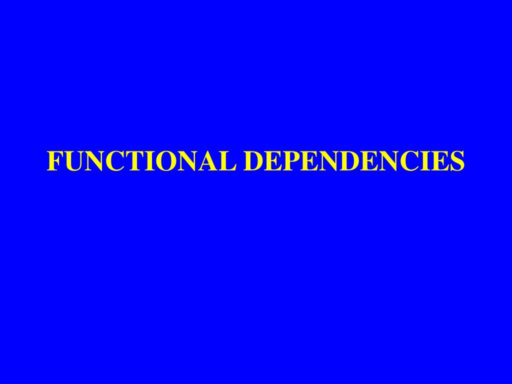 functional dependencies l.