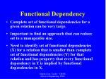 functional dependency35