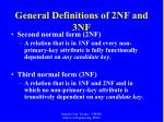 general definitions of 2nf and 3nf