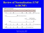 review of normalization unf to bcnf57