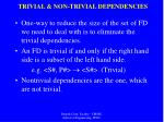 trivial non trivial dependencies