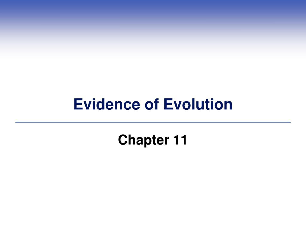 evidence of evolution l.
