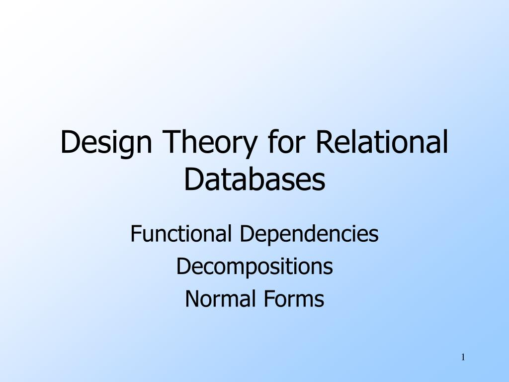 design theory for relational databases l.