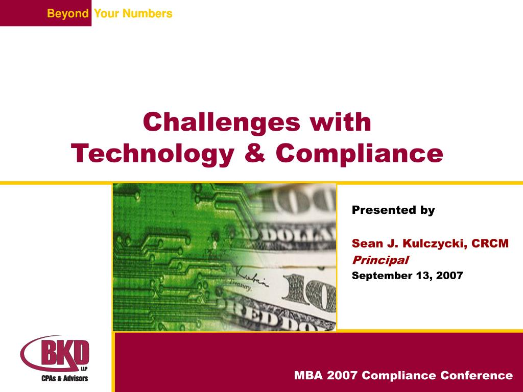 challenges with technology compliance l.