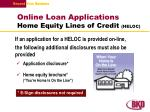 online loan applications home equity lines of credit heloc