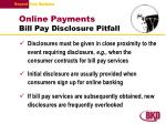 online payments bill pay disclosure pitfall