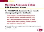 opening accounts online bsa considerations
