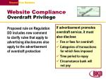 website compliance overdraft privilege