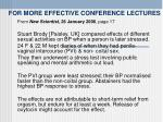 for more effective conference lectures