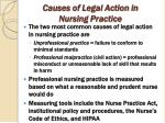 causes of legal action in nursing practice