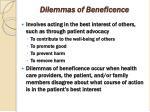 dilemmas of beneficence