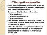 iv therapy documentation