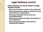 legal testimony cont d64