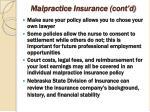 malpractice insurance cont d70