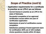 scope of practice cont d