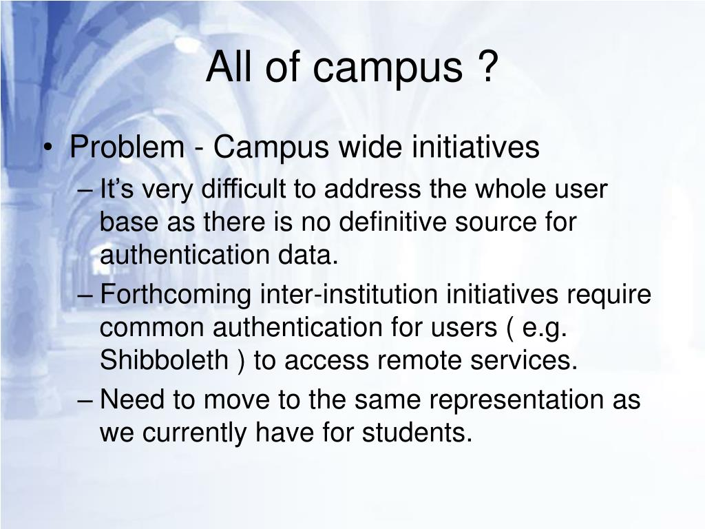 All of campus ?