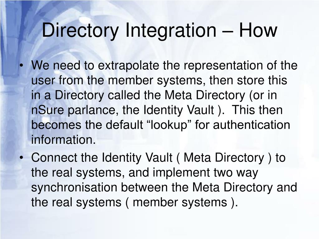 Directory Integration – How