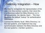 directory integration how