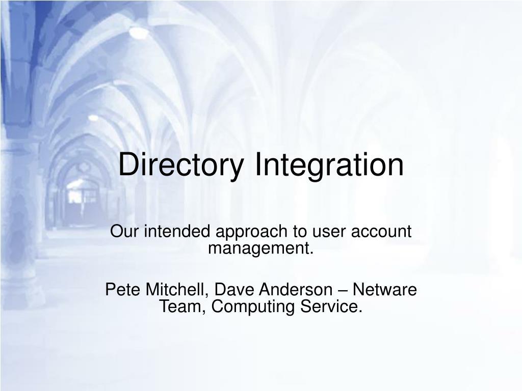 directory integration l.
