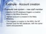 example account creation