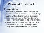 password sync cont