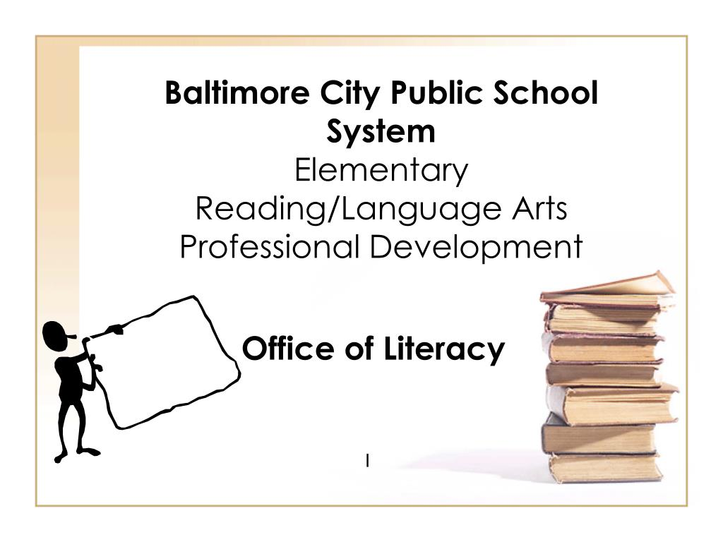 baltimore city public school system elementary reading language arts professional development l.