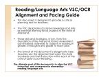 reading language arts vsc ocr alignment and pacing guide