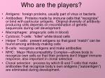 who are the players