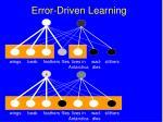 error driven learning101